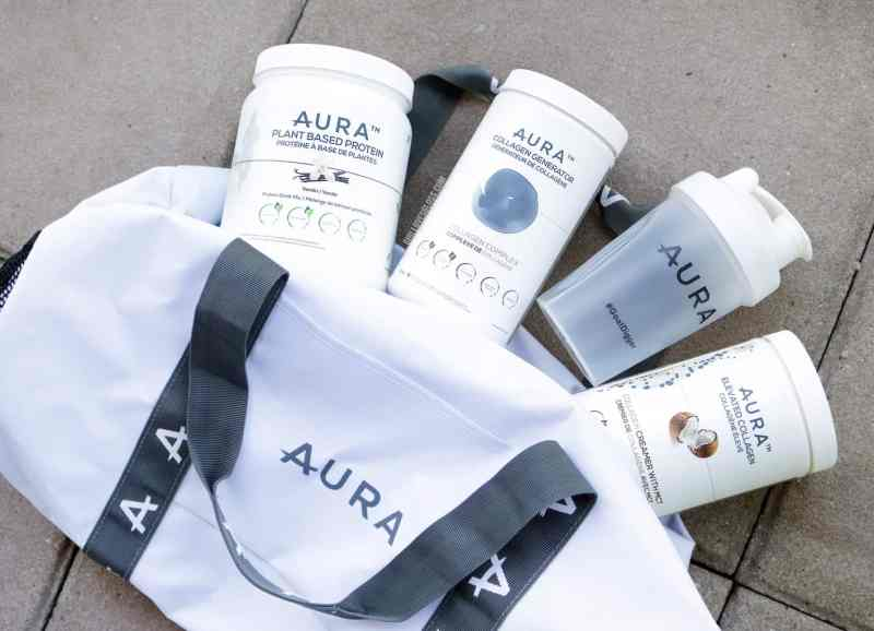 AURA Nutrition Collagen MCT Protein Powder Review GIVEAWAY