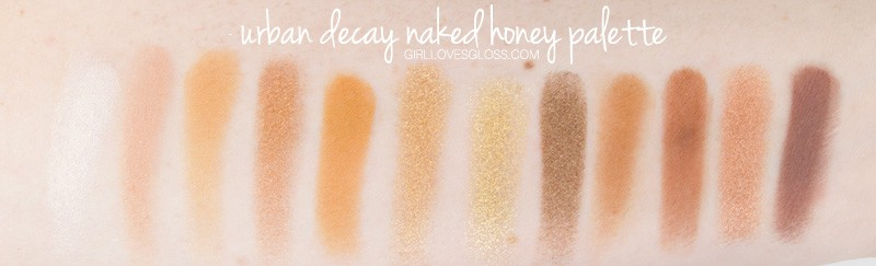 Urban Decay Naked Honey Palette Swatches and Review