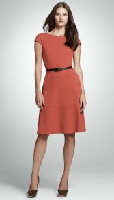 Belted Cap Sleeve Dress by Jones New York