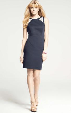 Lace Inset Sheath Dress by Ann Taylor
