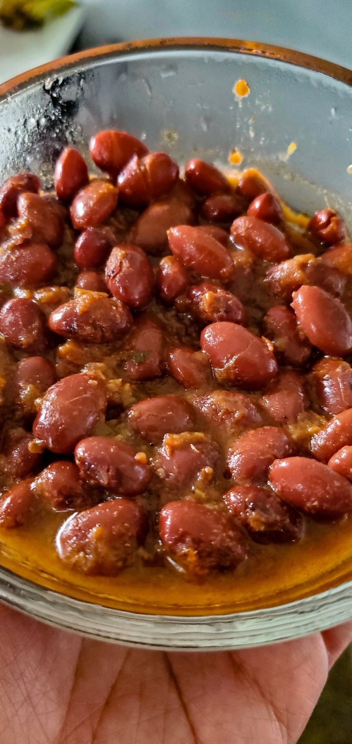 A bowl of stewed red beans