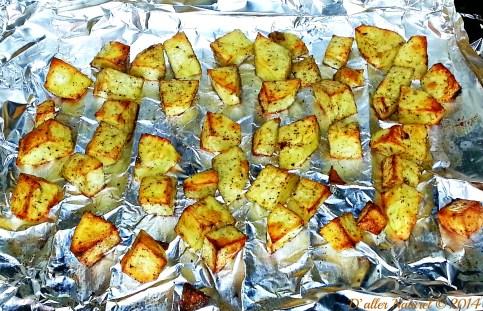 hanger steak - roasted potatoes