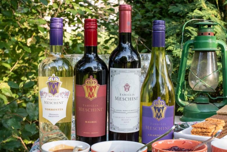 Famiglia Meschini Torrontes, Malbec, Cabernet Sauvignon Reserva, Chardonnay