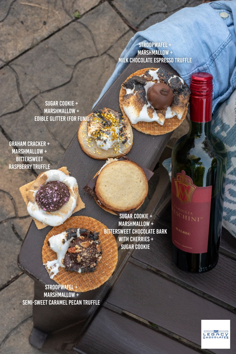 Gourmet Legacy Chocolate S'mores with Wine