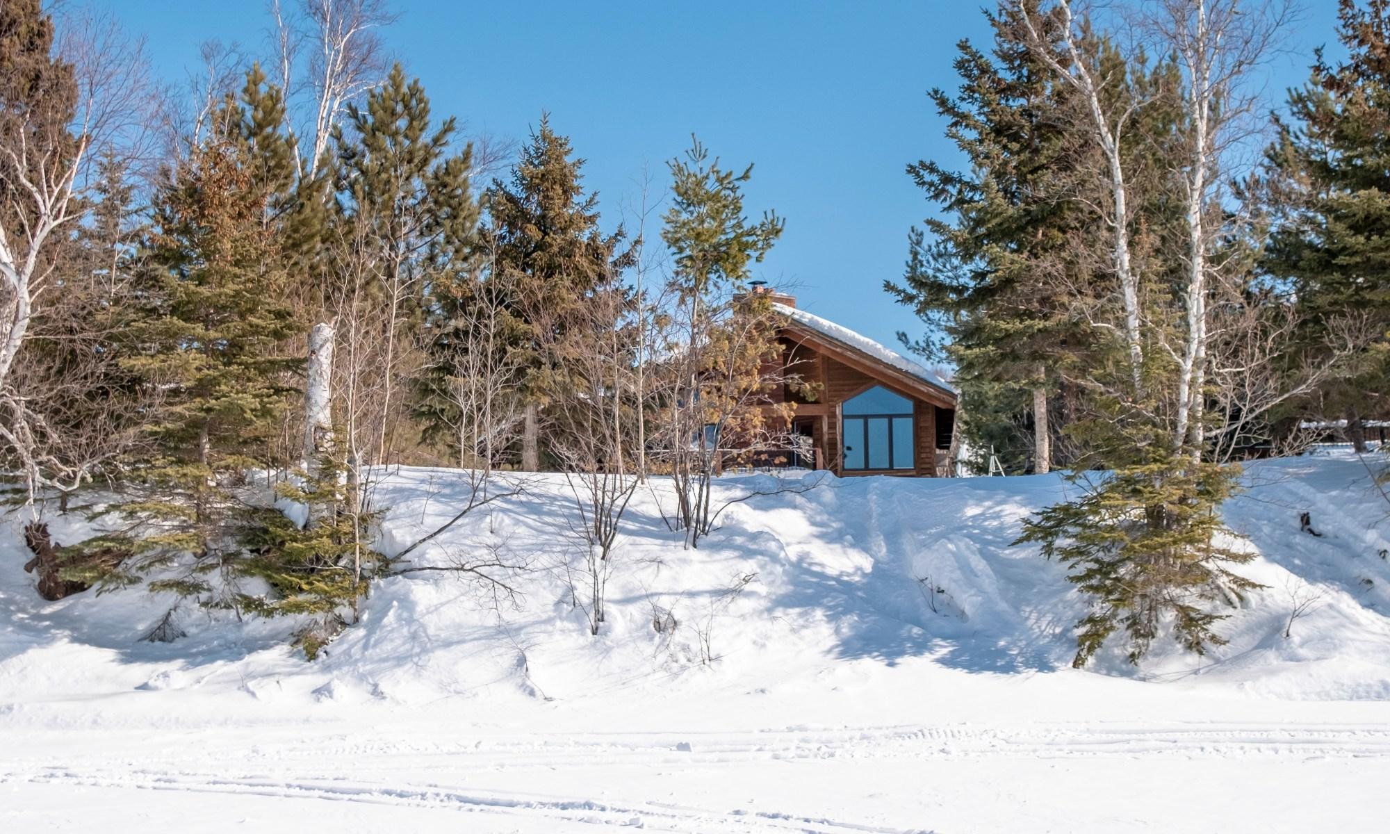 cabin on devil track lake