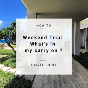 Weekend Trip: What's in my carry on? | A Girl of Many Passports