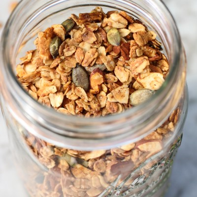 on being thankful – and vanilla almond flax granola