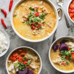 malaysian chicken and coconut curry