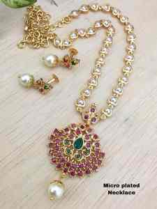 Adc Fashions Pearl Chain With Pendant set