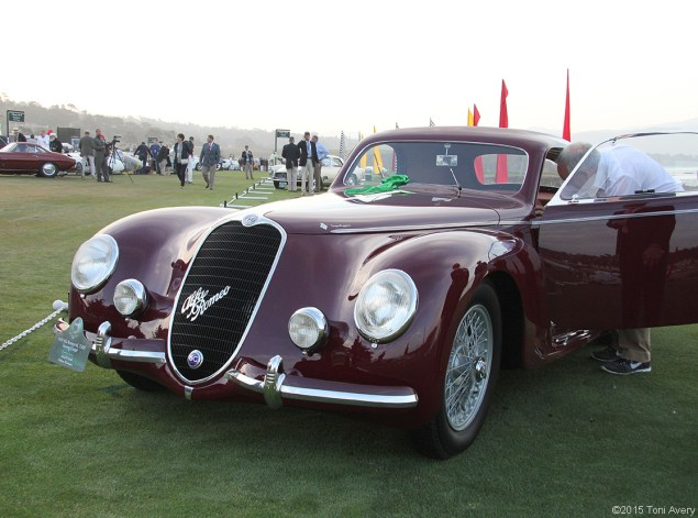 8-16-15 Pebble Beach, CA 1939 Alfa Romeo 6C 2500 Touring Coupe