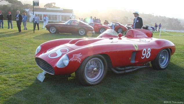 8-16-15 Pebble Beach, CA 1955 Ferrari 857 S Scaglietti Spyder
