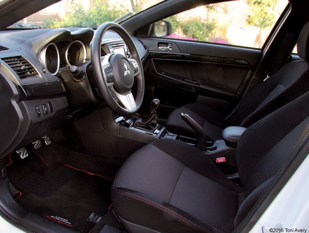 2015 Mitsubishi Lancer Evolution Final Edition interior front