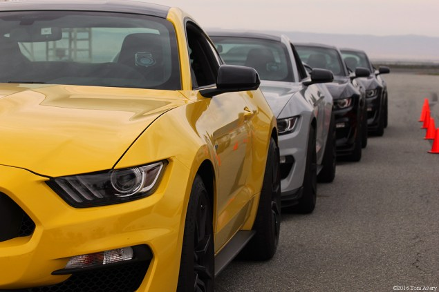 GT350 North American Track Tour car lineup down side