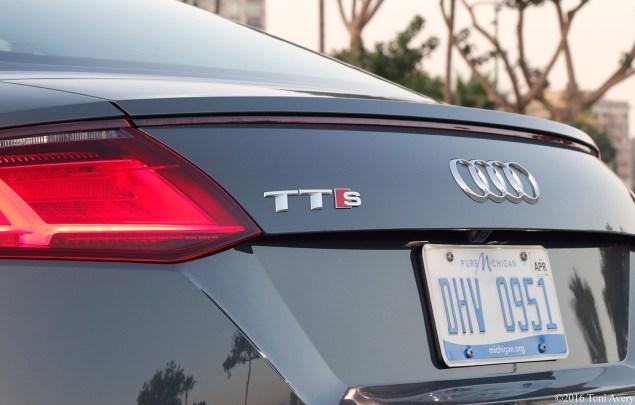 2016 Audi TTS Coupe rear badge