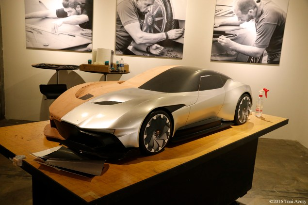 Aston Martin on Ocean clay model
