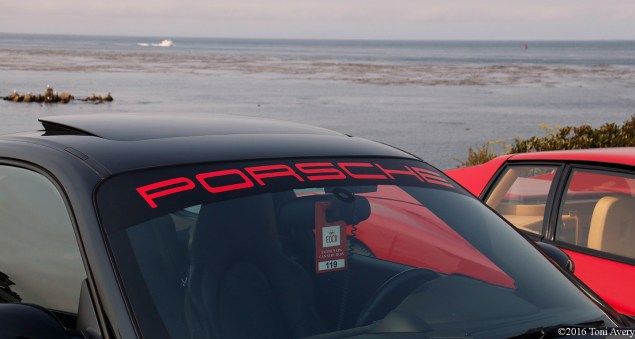 Exotics on Cannery Row Porsche and water