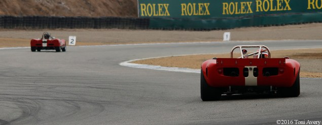 Rolex Monterey Motorsports Reunion rear of race cars 2