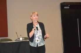 Julia Wiklander speaking at Youth Pre-Forum