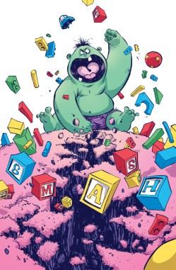 Hulk Baby by Skottie Young