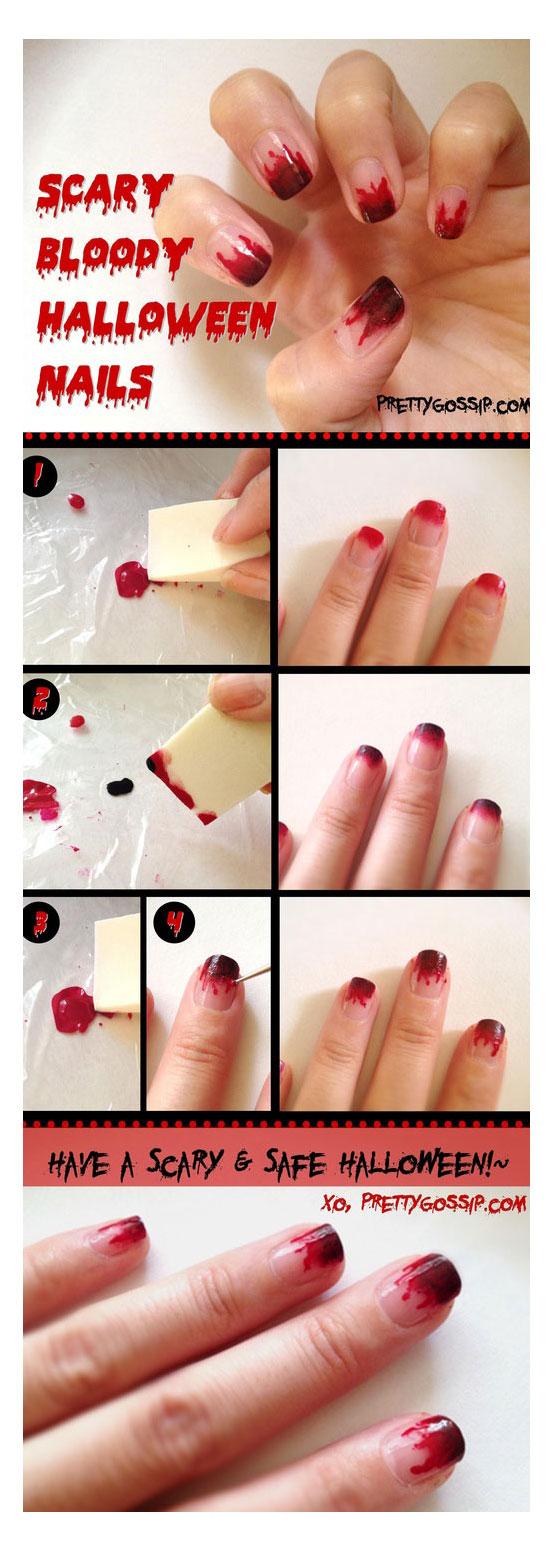 Simple Easy Scary Nail Art Designs Ideas