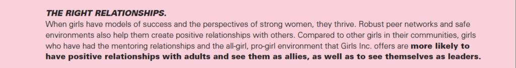 Girl empowerment pillar 1