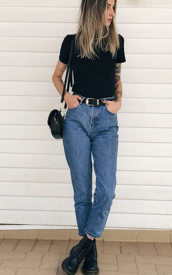 17 Easy Achievable Ways to Style Mom Jeans Outfits