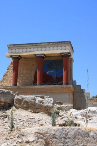Entrada Norte com fresco de touro, Palácio de Knossos, Creta