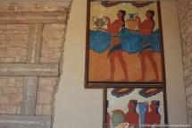 Parte do fresco da Procissão (portadores de taças), Palácio de Knossos, Creta