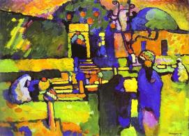 Kandinsky - Arabs 1909 (Via Wassily Kandinsky.net)