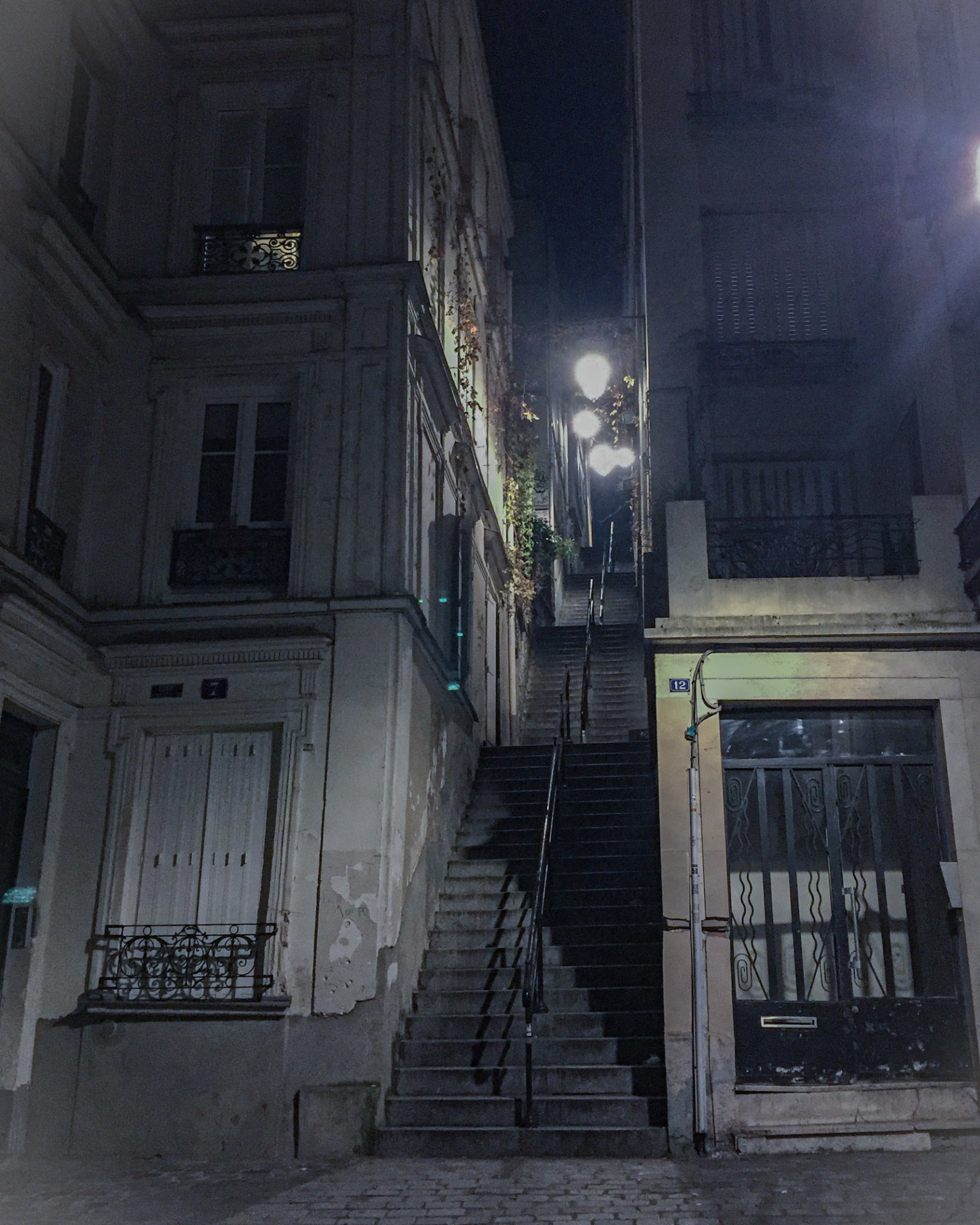 Paris streets isolated