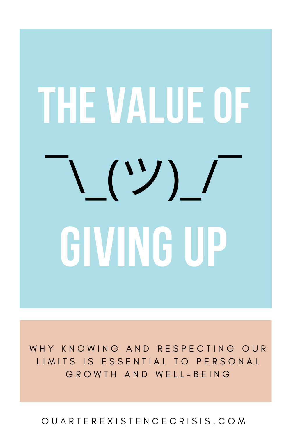 the value of giving up