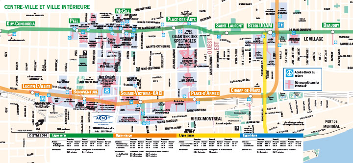 Map of Montreal's Underground City © STM