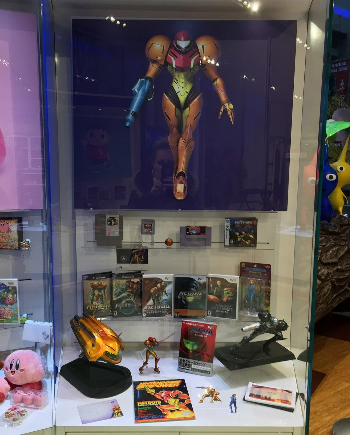 Metroid display at the Nintendo World Store in NYC © Leah Jewer / Girls on Games