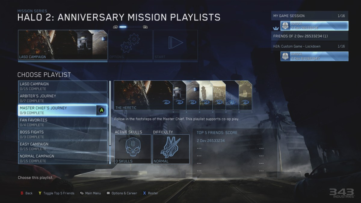 MCC Halo 2 Anniversary Playlist
