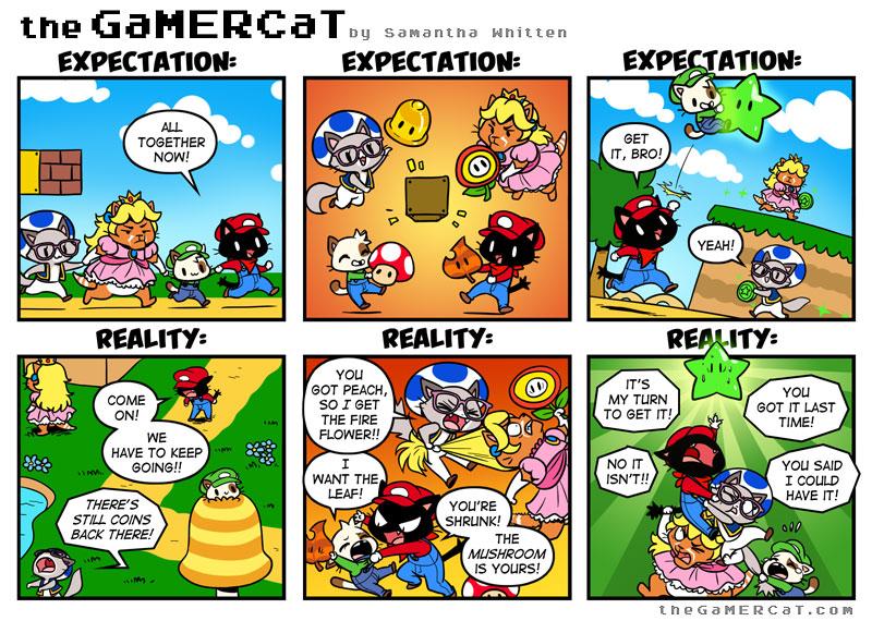 Gamercat Comic: Teamwork