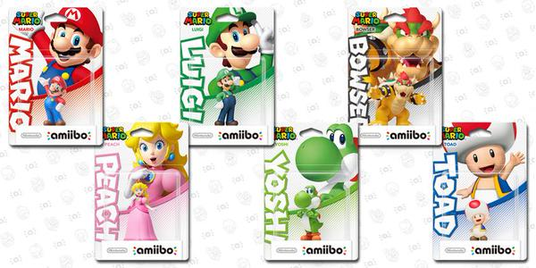 Super Mario Amiibos (via Nintendo)