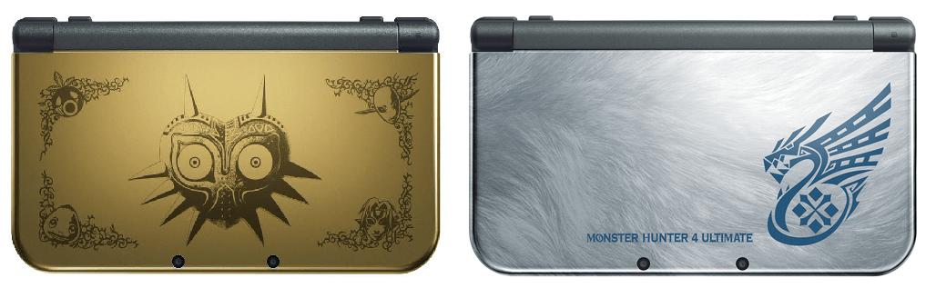 Majora's Mask & Monster Hunter 4 Ultimate Limited Edition New 3S XLs (via Nintendo)