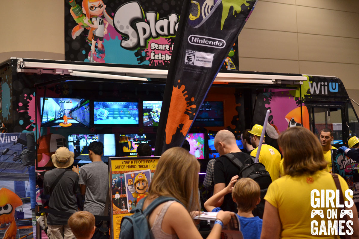 Nintendo booth at Fan Expo 2015