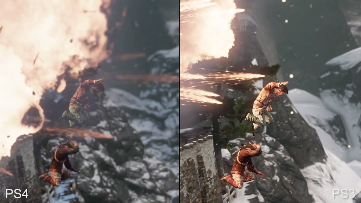Uncharted The Nathan Drake Collection graphics comparison from DigitalFoundry on youtube