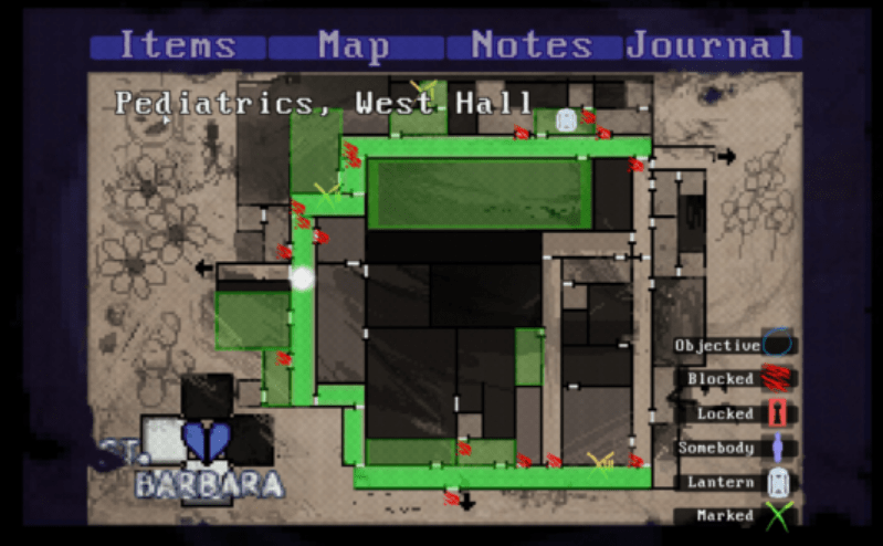One of the maps in Claire