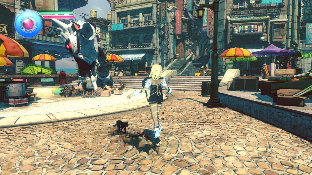 In game Gravity Rush 2 visuals