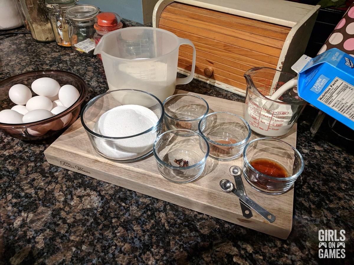 Power-up Mushroom Eggnog Ingredients