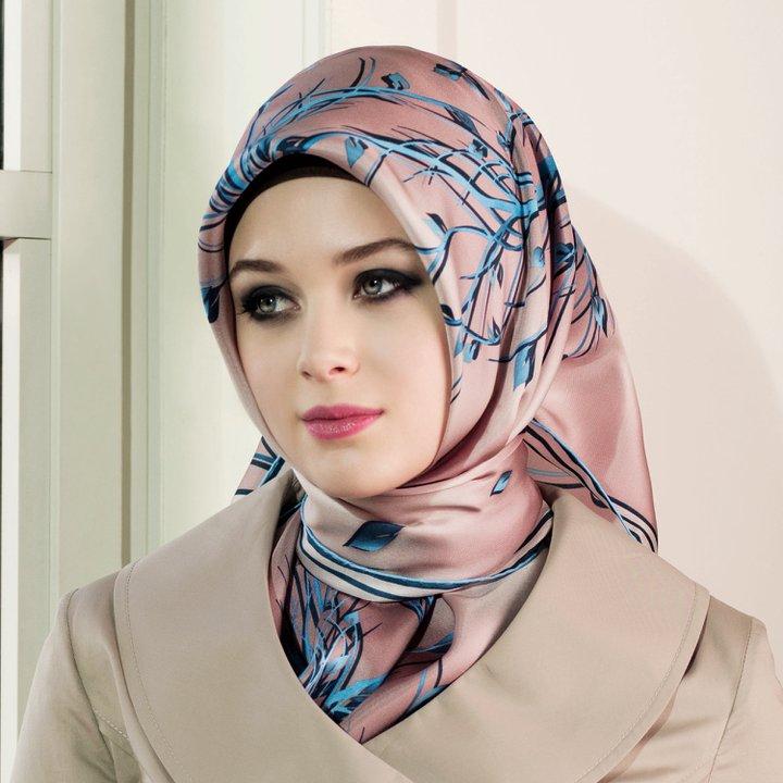 طريقة الحجاب التركي لفات رائعه ومختلفه للطرح التركية صور