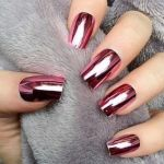 red chrome nail ideas, chrome nail tutorial,