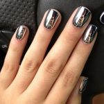silver chrome nails, tutorial, how to