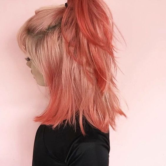 blorange hair dye styles, hair dye color ideas, hair color trends, blonde orange