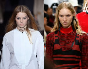 natural hair, natural hair trends, runway styles, center parted