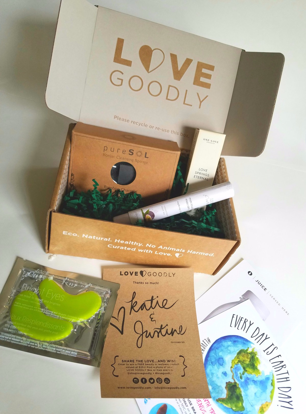 Love Goodly Subscription Box, Vegan Cosmetics Review