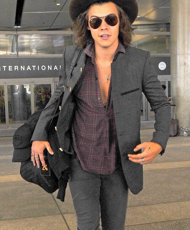 Harry Styles, Los Angeles, airport, today