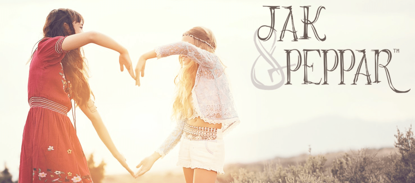 Girls Tween Boho inspired collection by Jak and Peppar